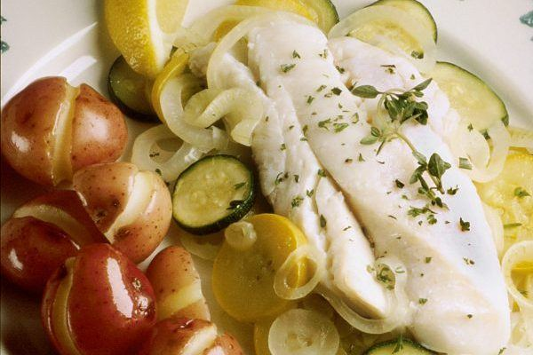 Poached White Fish